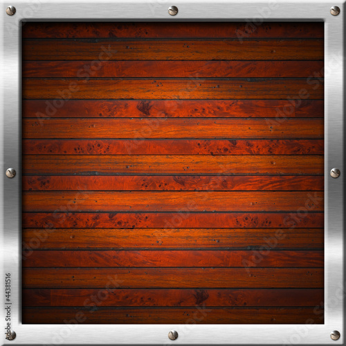 Wood and Metal Frame