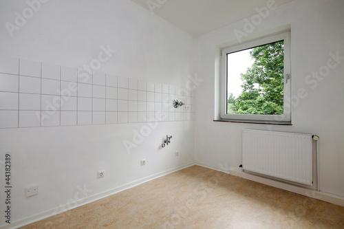 canvas print picture leerer Raum mit Fenster