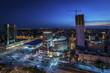 Fototapete Nacht - Stadtlandschaft - Stadt allgemein