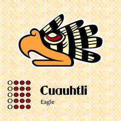 Aztec calendar symbols - Cuauhtli or eagle (15)