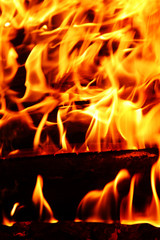 flames background, fire, camp-fire