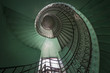 Spiral old green and grunge staircase