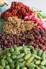 lot of Thai fruit for sale on steet Thailand