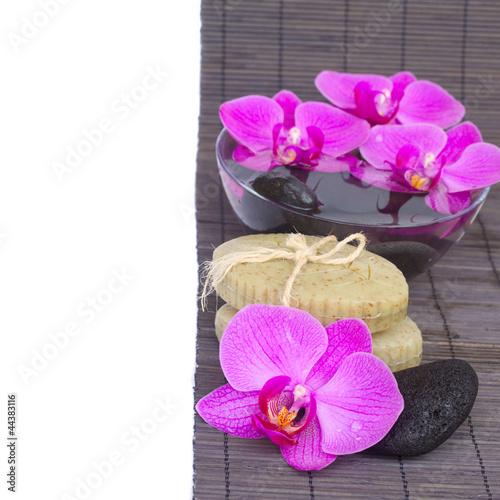 zen kamienie i Orchidea