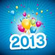 2013, ballons et confettis