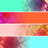 Abstract headers set (raster version)