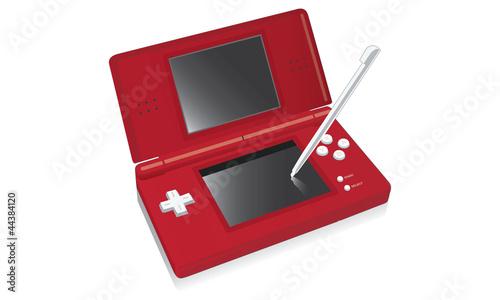 Console de jeux vidéo portable rouge