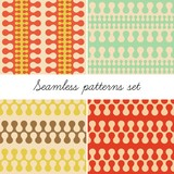 Abstract vintage seamless patterns (vector version)