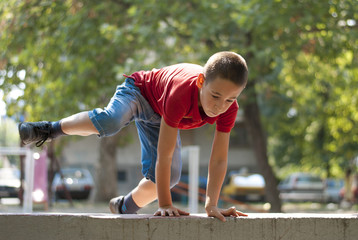 Parkour jump over wall 2
