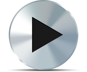 Metal play button