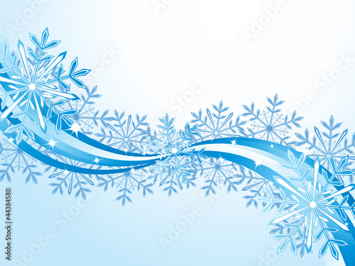 Winter wave pattern background