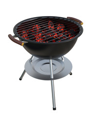 Charcoal Grill isolated. Clipping paths