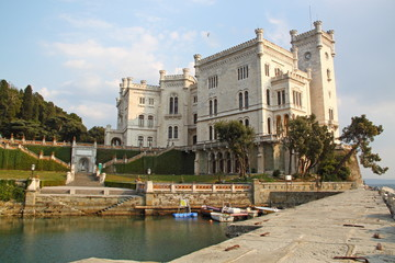 Miramare Castle in Trieste Italy
