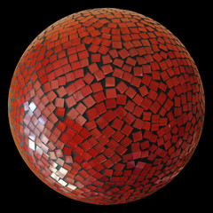 Bola de cristales rojos