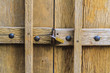 Conceptual image of wood door with lock