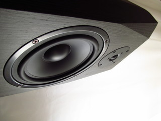 2 way hifi audio speaker front view