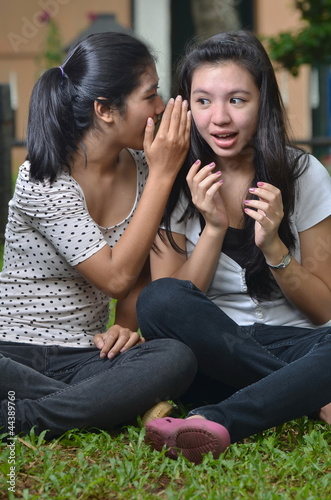 Girls Activity: Sharing Secret Stories or Gossip