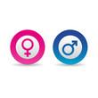 Icones pictos internet symboles homme femme