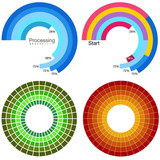 Processing Wheel Chart Set