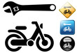 Moped repair pictogram and icons