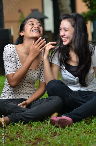 Girls Activity : Sharing Stories or Gossiping