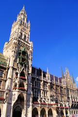 New Town Hall in Marienplatz, Munich, Germany