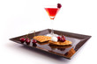 Cherries Tart Slices with Drink