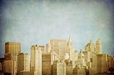 grunge image of new york skyline
