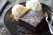 brownie with icecream