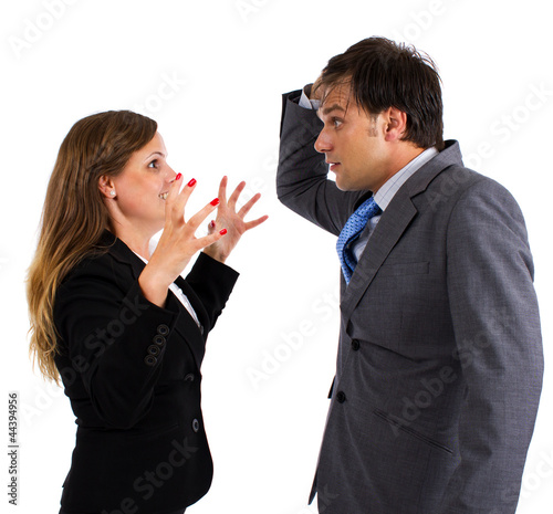Two  business colleagues having an argument