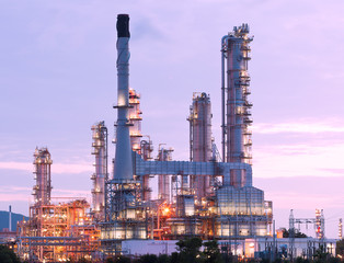 scenic of petrochemical oil refinery plant