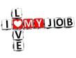 3D I Love My Job Crossword