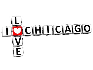 3D I Love Chicago Crossword