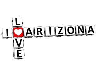 3D I Love Arizona Crossword