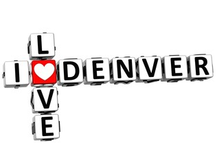 3D I Love Denver Crossword