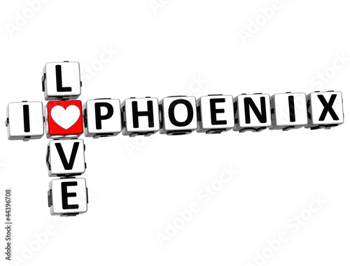 3D I Love Phoenix Crossword