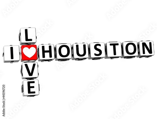 3D I Love Houston Crossword