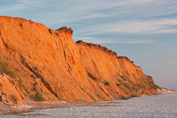 Rotes Kliff bei Kampen auf Sylt im Abendlicht