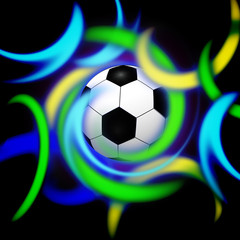 Stylish conceptual digital soccer illustration design
