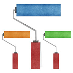 paint roller made from recycled paper