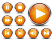 Play Button Set Orange