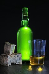 Cider and Cabrales cheese.