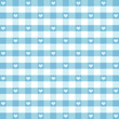 Seamless Gingham, Hearts Pattern, aqua. EPS has pattern swatch.