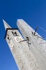 Central square clock tower, Bannio Anzino