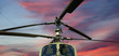 military helicopter closeup