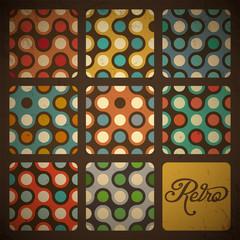 Retro Seamless pattern set.