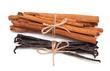 tied cinnamon and vanilla beans