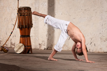 Serious Young Capoeira Student