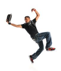 Hip Hop Dancer Dancing With Hat