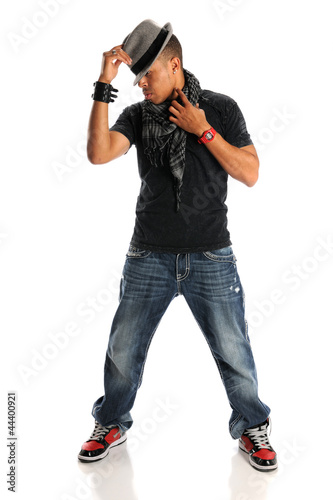 Hip Hop Man With Hat Standing
